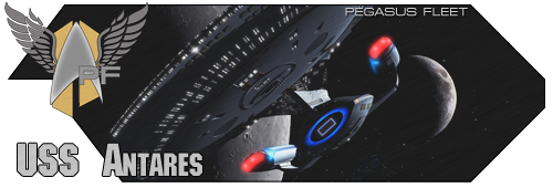 USS Antares banner
